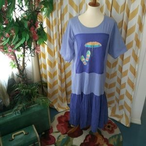 Johnny Was ladies size Med purple T shirt Dress